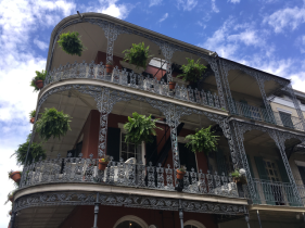 Loving the balconies and the hanging plant pots, definitely a fan of New Orleans architecture.