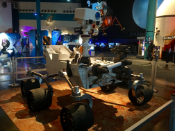A model of the Curiosity rover, Space Center Houston.